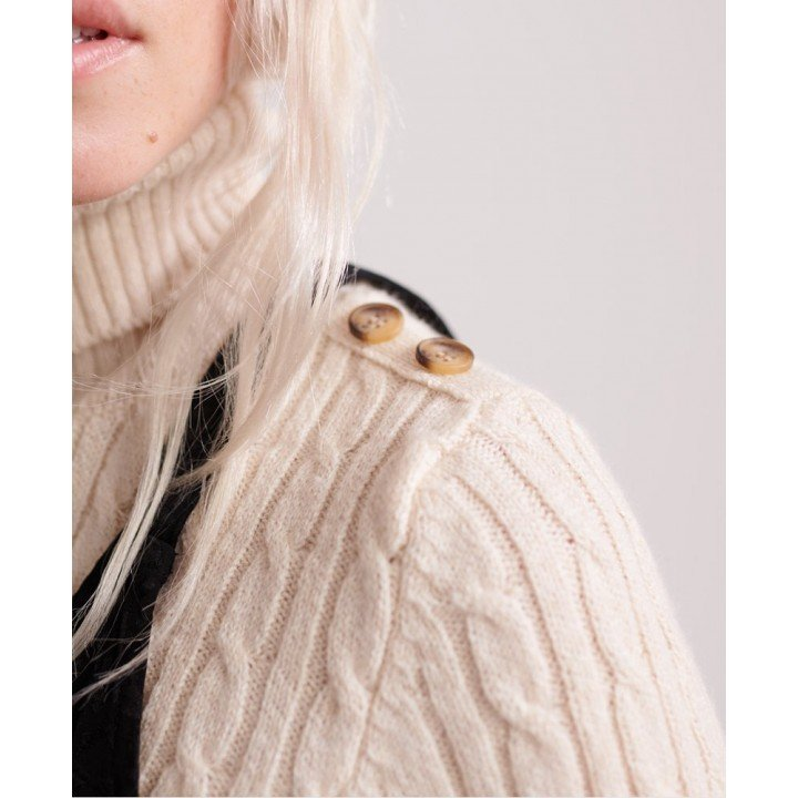 Croyde Cable Roll Neck afbeelding